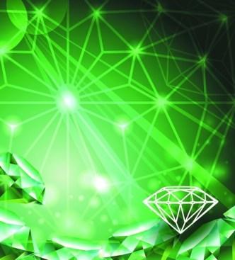 Vector Green Diamond Background 04
