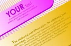 3D Colored Paper Text Labels Vector 03