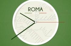 Flat Roma Clock PSD