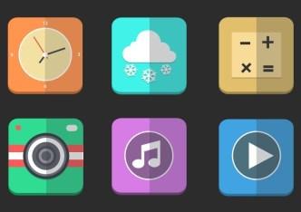 Paper Like Folding Icons PSD