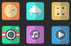 Paper Like Folding Icons PSD
