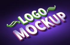 3D Logo & Text Effect PSD Mockup