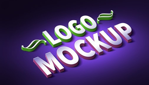 3D Logo & Text Effect PSD Mockup