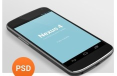 Dark Nexus 4 PSD Mockup