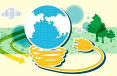 ECO & Green Energy Concept Vector Illustration 09