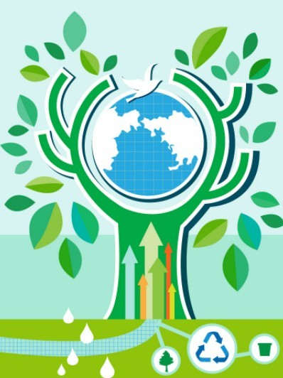 ECO & Green Energy Concept Vector Illustration 11