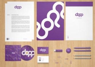Fashion Purple Stationery Branding PSD Mockup