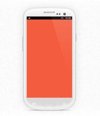 White Samsung Galaxy S3 Mini PSD Mockup