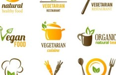 Set Of Vector Fresh Natural Healthy Food Icons 02