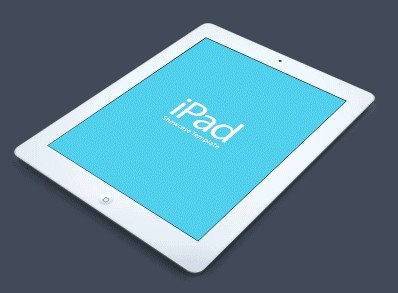 White iPad Showcase Template PSD