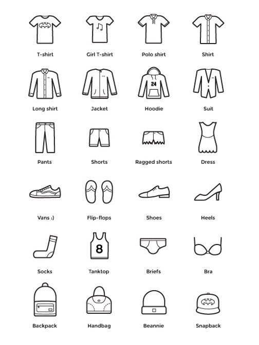 Clothes Icons Pack Vector