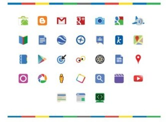 Google Product Icon Set Vector