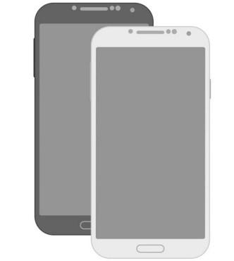Minimal Flat Galaxy S4 Mockup PSD
