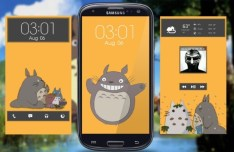 My Neighbor Totoro Galaxy S III Theme PSD