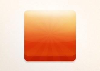 Orange App Icon PSD Template