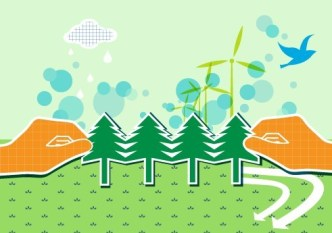 Vector Illustration of Green Energy Concept For Environmental Protection 06
