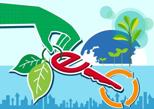 Vector Illustration of Green Energy Concept For Environmental Protection 07