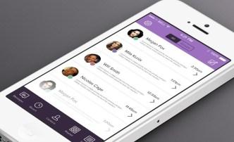 Viber App GUI For iOS 7 PSD