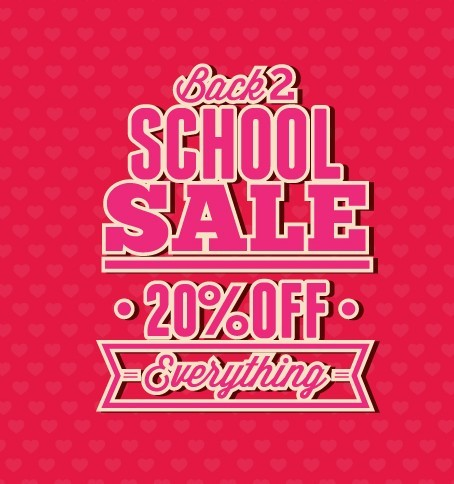 free clean back to school sale flyer template vector 04 titanui