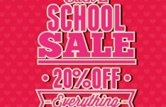 Clean Back To School Sale Flyer Template Vector 04