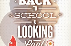 Vector Illustration Of Back To School & Looking Cool 01