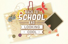 Vector Illustration Of Back To School & Looking Cool 04