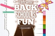 Vector Illustration Of Welcome Students Back to School 02