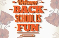Vector Illustration Of Welcome Students Back to School 03