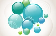 Blue and Green Abstract Vector Background 06