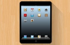 Dark iPad Mini Mockup PSD