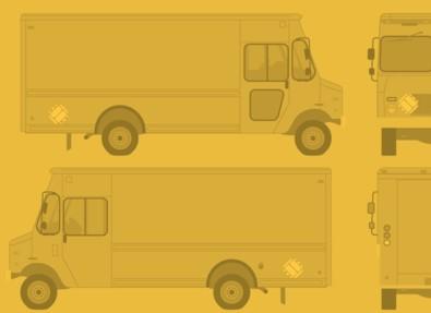 Food Truck Wrap Template Vector