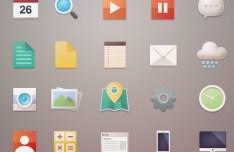 Minimal Flat Web Icon Set PSD