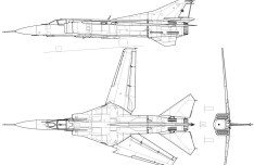 Vector MiG-23 MF Fighter Aircraft Perspective