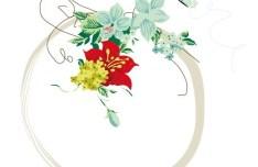Beautiful Flower Corner Decorative Background Vector 04