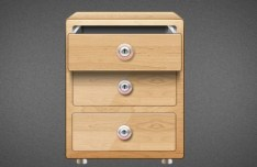Wooden Drawer PSD