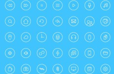 Circular Line Web Icons Pack PSD