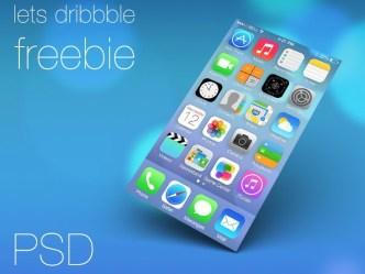 iOS 7 Homescreen Layout PSD
