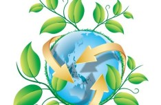Blue Planet Green Earth Concept Illustration Vector 01