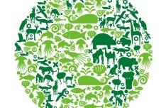 Blue Planet Green Earth Concept Illustration Vector 02