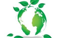 Blue Planet Green Earth Concept Illustration Vector 05