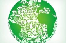 Blue Planet Green Earth Concept Illustration Vector 07