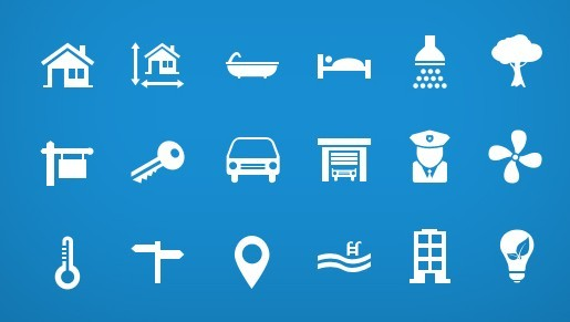 Simple Real Estate Icon Set PSD