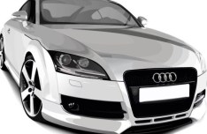 Vector Audi TTS Coupe Silver