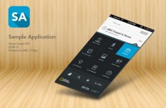 App Home Screen PSD Template For iPhone 5