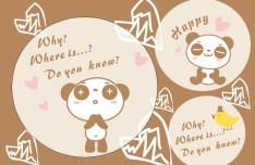 Cute Cartoon Panda Illustration Vector