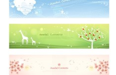 Set Of Vector Fresh Nature Banners