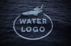 Sink into the Ocean Logo Mockup PSD
