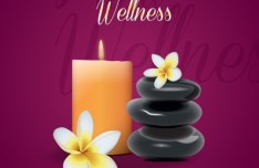 Spa and Wellness Background Design Vector