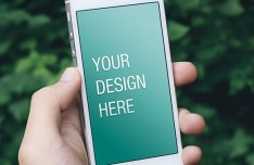 White iPhone 5 Mockup Template PSD