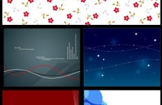 Set Of Abstract Curves Backgrounds Vector